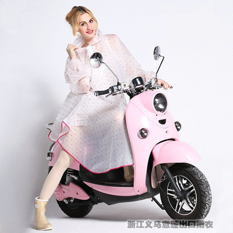 Fashion EVA Waterproof Electric Bicycle With sleeves Women Outdoor raincoat poncho