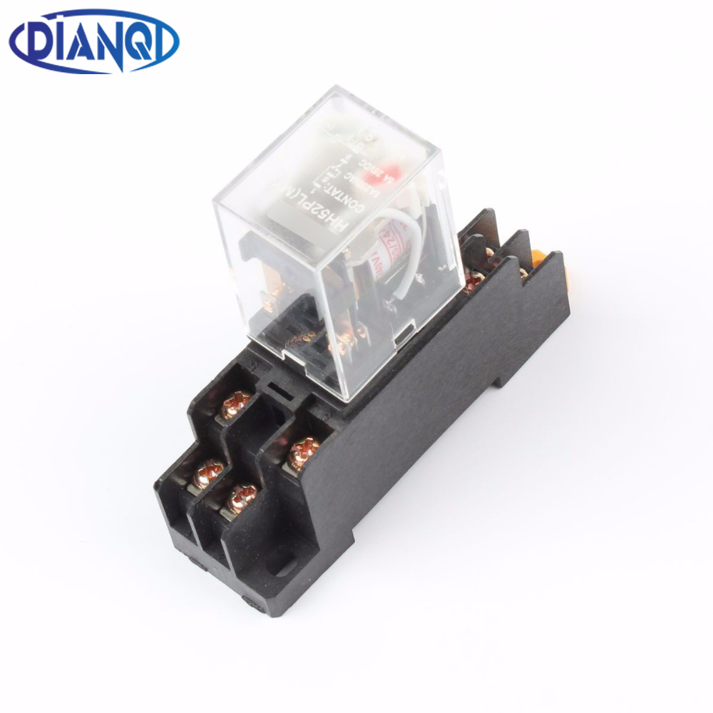 MY2P HH52P MY2NJ relay 220V AC coil high quality general purpose DPDT micro mini relay with socket base holder 220 240v ac coil dpdt power relay my2nj 8pin 5a