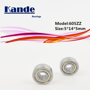 Kande подшипники 605 10 шт ABEC-1 ABEC-3 P5 605ZZ 605 ZZ Миниатюрный глубокий шаровой подшипник 5x14x5mm