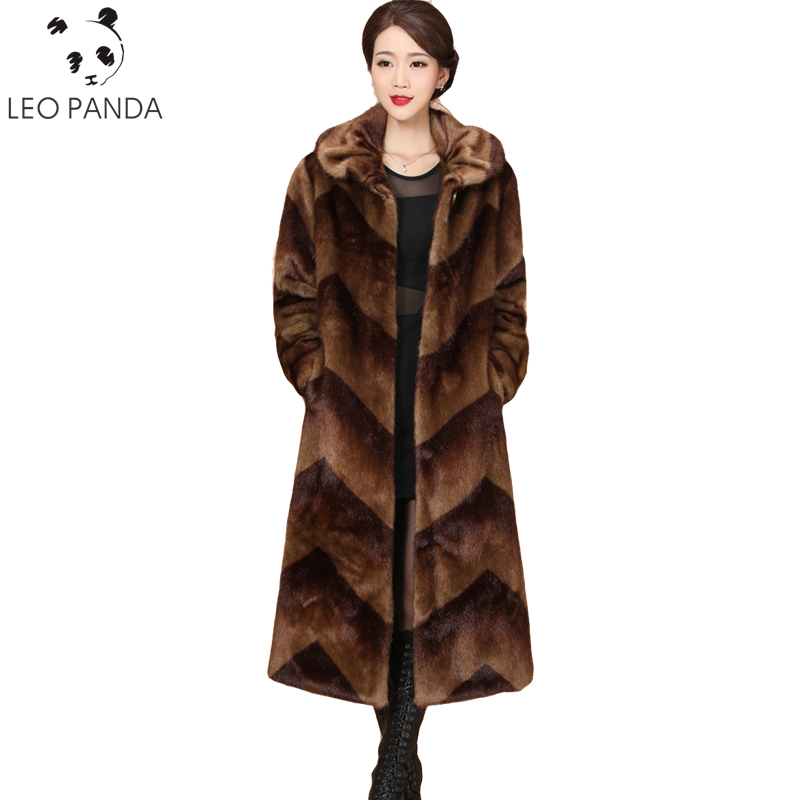 2019 New Mink Fur Jacket Women Winter Luxury Coat Fashion Fur Coats Plus Size Loose M