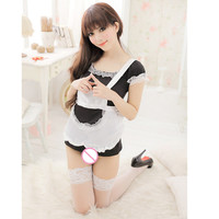 Sexy Maid Women Lingerie Sexy Underwear Lovely Female Maid Classical Lace Sexy Miniskirt Maid Outfit Sexy