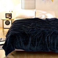 Solid Warm Soft Throw Weighted Blanket Coral Fleece Blanket Fuzzy On Bed Sofa Manta Hot Limited