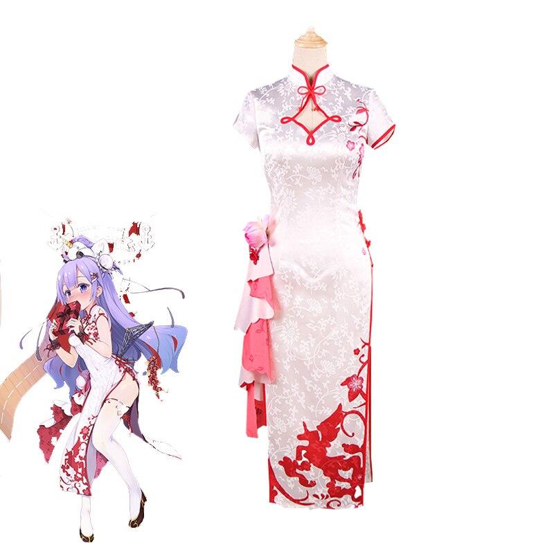 New Gamel Azur Lane Unicorn Cosplay Costume Delux Brocade Satin Cheongsam  Halloween Carnival Uniforms Custom Made