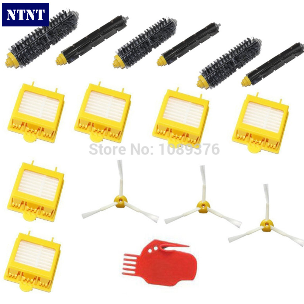NTNT Free Post New 3 Armed Brush Pack Kit Hepa Filters & For iRobot Roomba 700 Series 760 770 780 3pc brush replacement mini kit 6 armed for irobot roomba 500 series free shipping