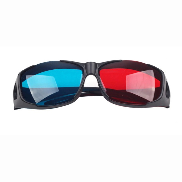 EDT-Red-blue / Cyan Anaglyph Simple Style 3d Glasses 3d Movie Game-extra Upgrade Style (3Pcs With Different Style)