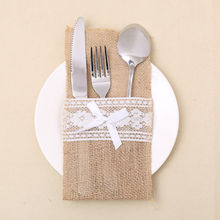 Christmas Sant Dining Hat knife and Fork set / Table Place Decoration Bags