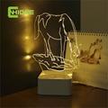 Cnhidee USB tacto de la novedad del caballo encantador 3D lámpara de la lámpara Dimmable luz de noche como creativo regalos del Festival Home Decor lámpara de escritorio para amigo