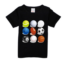 Boys Short Sleeve T Shirts For Children Football basketball T-shirt Cotton 1-15 Year Kids Clothing Baby Girls Tops Tees Clothes