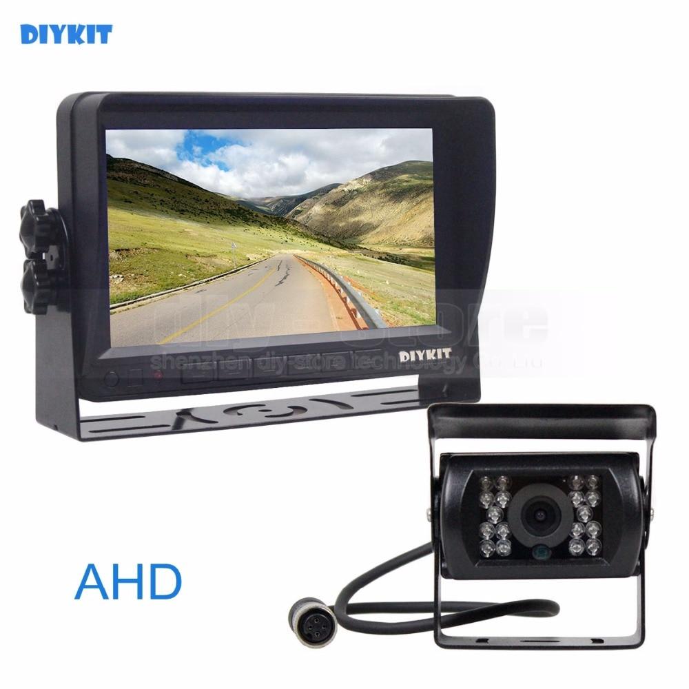 DIYKIT AHD 7inch TFT LCD Car Monitor Rear View Monitor Waterproof IR Night Vision Pixels AHD Camera