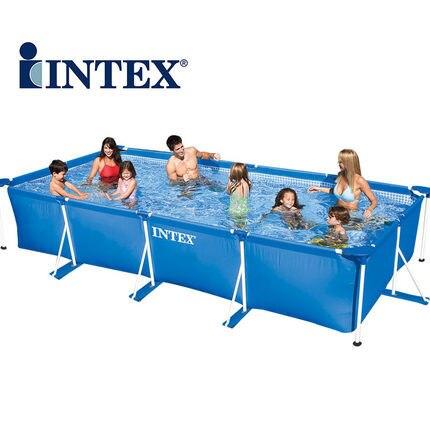 Pliable rectangulaire Mobile Aquarium maison environnement piscine avec Tube Supporter bleu AGP piscine 300*200*75 cm