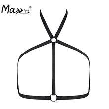 Max Spri 2017 New Women Hot Sexy Crop Top Body Harness Bandage Girl Elastic Bra Straps Cross Bra