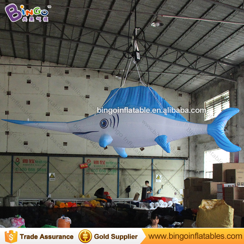 High quality 3 meters long giant inflatable swordfish customized ocean life type blow up fish for display inflatable toys customized 3 meters long giant inflatable shark high quality decorative blow up shark replica for sale toys