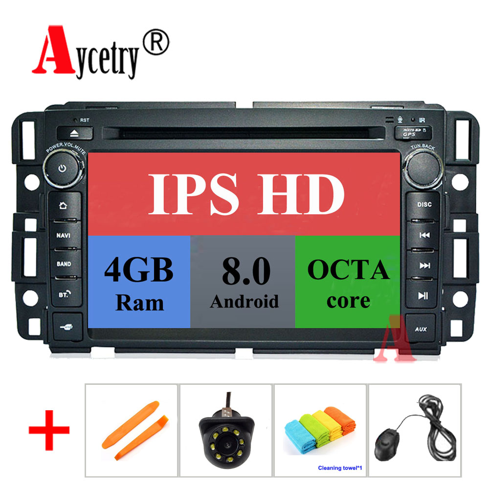 Android 8.0 Car DVD player GPS radio for GMC/HUMMER/
