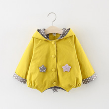 Spring fall infant Baby Girls Clothing Outfit Hoodie Windbreaker Jacket
