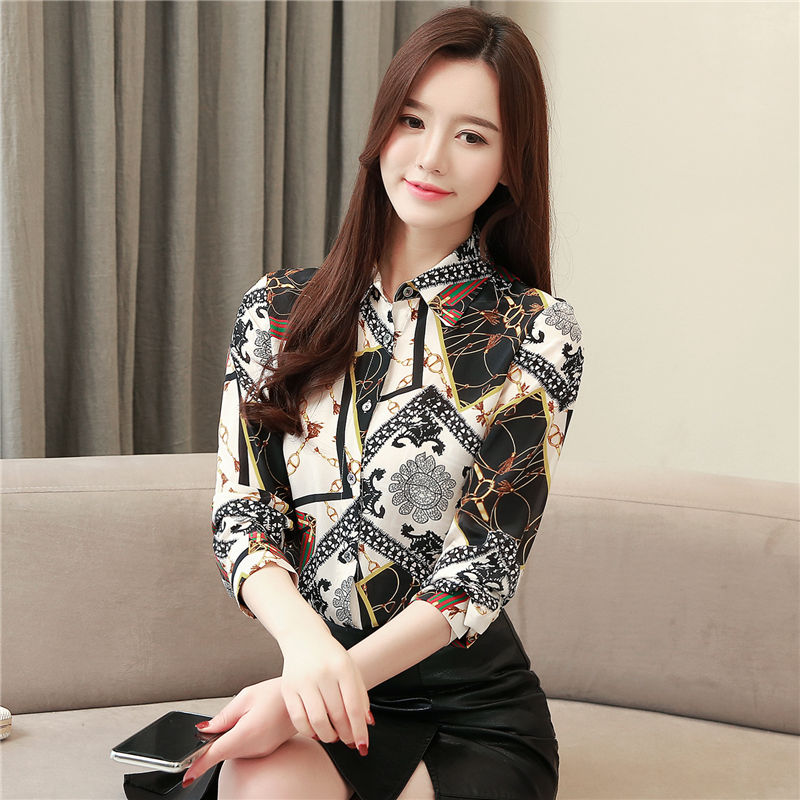 71381e6a90dfd0 Womens Tops and Blouses Silk Blouse Women Long Sleeve Shirts Blusas ...