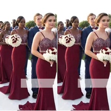 2019 Mermaid Long  Bridesmaid Dresses One-shoulder Satin Appliques Lace Wedding Party