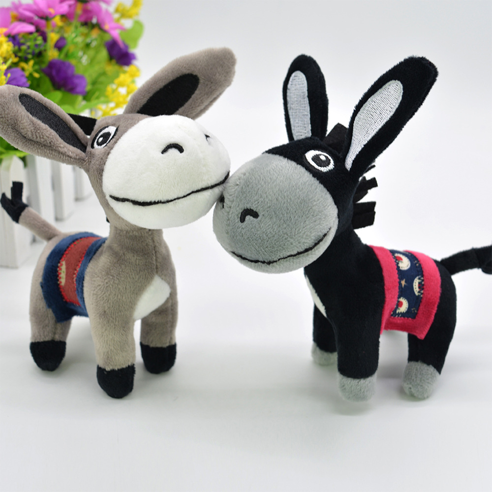 Kawaii Little Donkey Plush Keychain Toys Cute Mini Pendant Soft Stuffed Animals Doll Girls Toys Bag Pendant