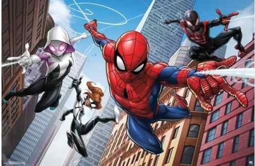SPIDER-MAN - WEB HEROES  MARVEL COMICS SILK POSTER Decorative Wall paint 24x36inch