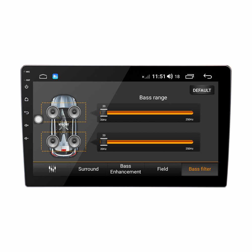 """10.1 """"アンドロイド 8.1 オクタコアユニバーサルダブル 2 喧騒車の GPS ヘッドユニットオーディオビルドの DSP フォルクスワーゲンパサートトゥーラン"""