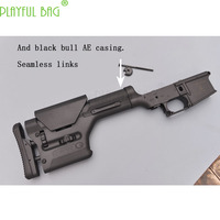 PB playful bag new product black cow AR nylon casing PRS telescopic tail bracket back fitting water bullet gun accessories M29