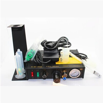 YDL-2000 Semi-automatic Glue Dispenser AB UV Solder Paste Liquid Controller for SMD PCB feita ft 982 semi automatic liquid glue dispensing dispenser machine with manual operation and foot pedal