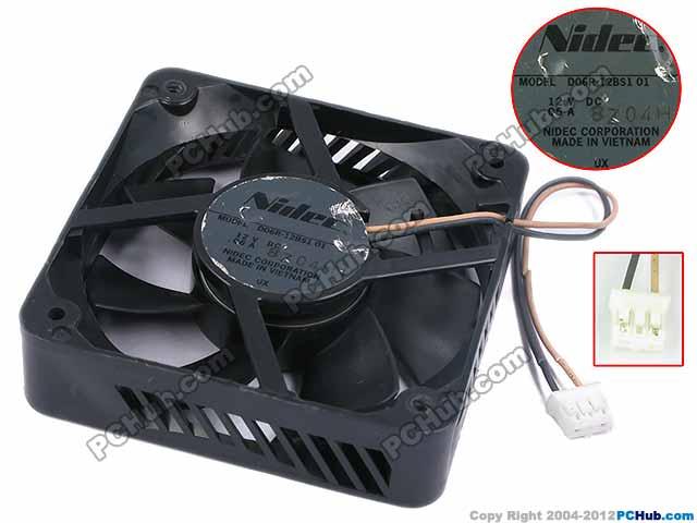 Nidec D06R-12BS1 DC 12V 0.06A 60x60x15mm Server Square Fan