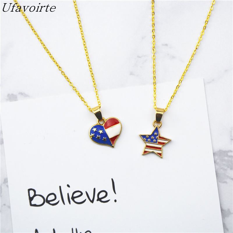 Ufavoirte Pendant Necklace Love Five-Pointed Star Necklace Heart Women Necklace Ladies Jewelry Birthday Gift 925 Accessories