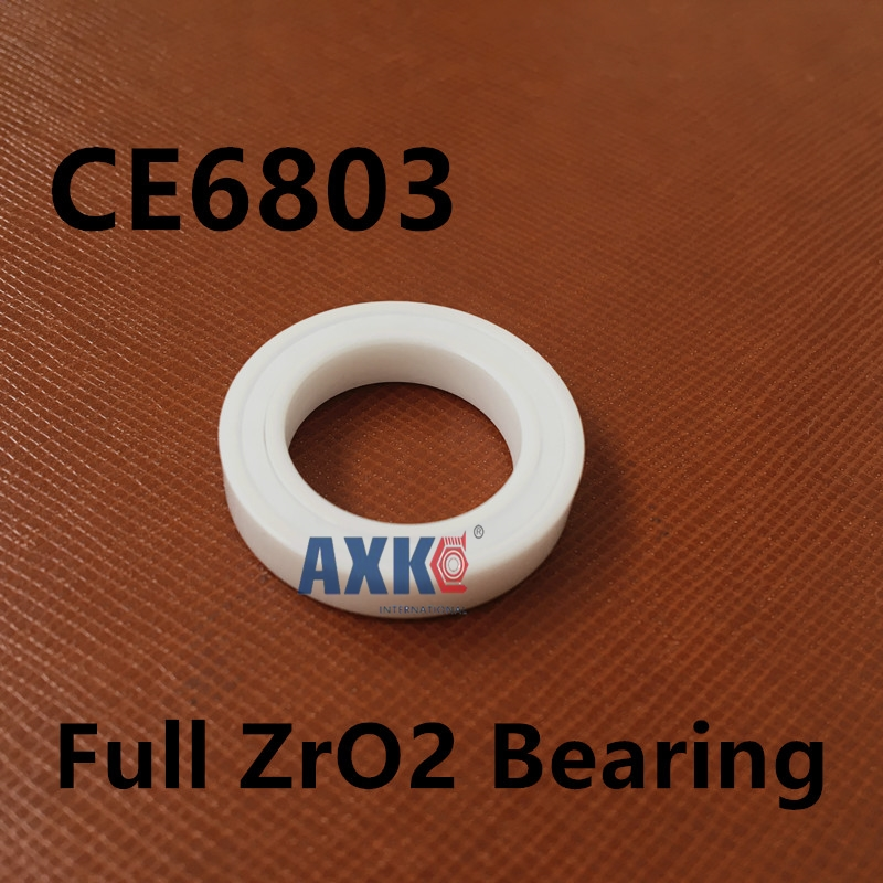 Free shipping 6803 full ZrO2 ceramic deep groove ball bearing 17x26x5mm 61803 MT bearing, bike bearing free shipping 6803 full si3n4 ceramic deep groove ball bearing 17x26x5mm 61803 bearing high quallity by haokun
