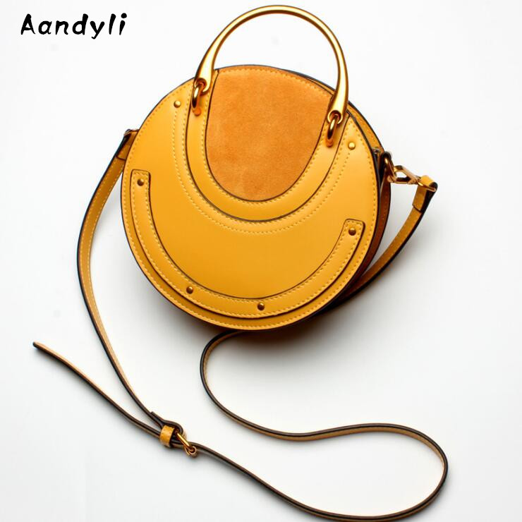 2018 Fashion Women Leather Ring Shoulder Bag Rivet Handbags Cloe Chain Tassel IT Bag