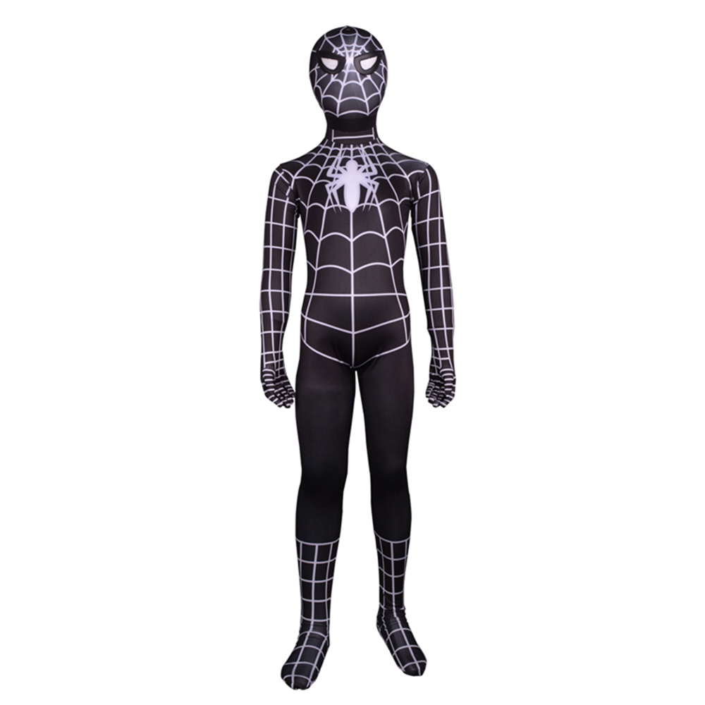Kids Black Spider Man Costume Spiderman 3 Black Suit ...