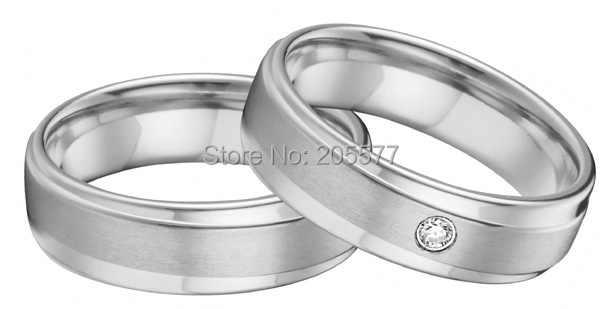 Изготовленный На Заказ Западный Европейский Стиль Серебряный цвет уникальный его и ее набор обручальных колец для пар