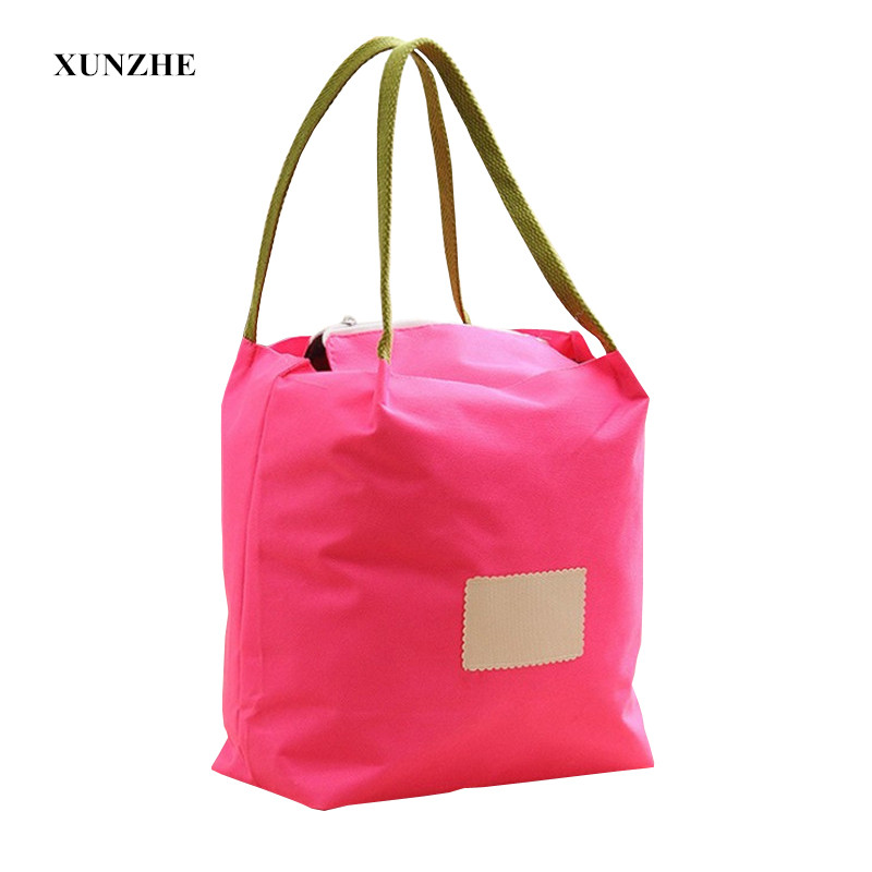 XUNZHE Storage Bags High capacity Portable Lunch Insulated Cooler Bags Thermal Food Picnic Lunch Bags Kids Lunch Box Tote