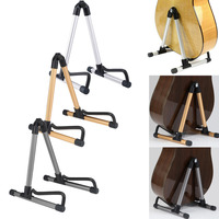 Guitar Stand Universal Folding Electric Acoustic Bass Guitar Stand A Frame Floor Rack Holder Gold Silver