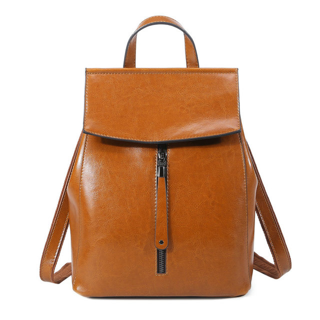 4a0980847dcb 100% Real Genuine Leather Women Backpack Woman Korean Style Ladies Strap  Laptop Bag Daily Backpack Girl School