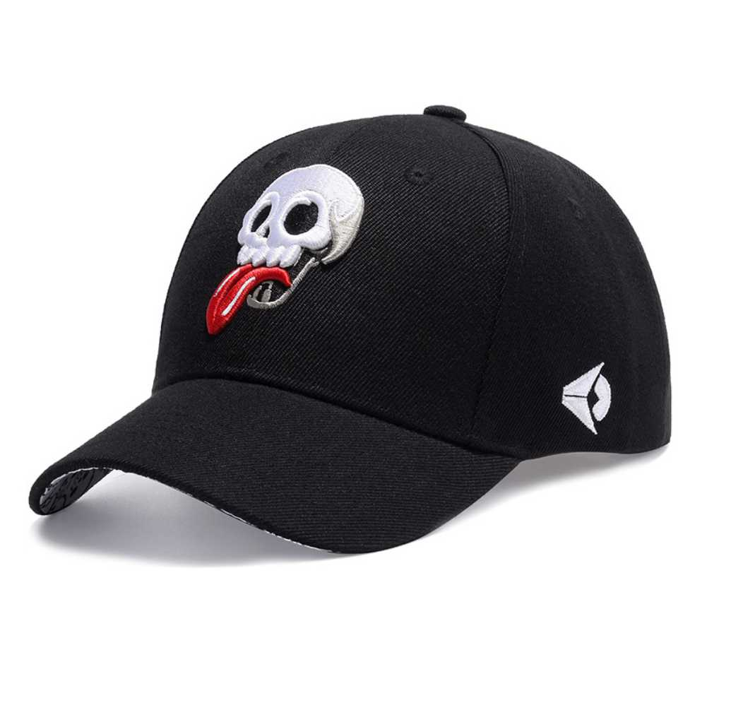 Brand Design Baseball Cap Funny Skull Embroidery Cap Men Hip Hop Caps Embroidered Logo Summer Sun Hat Trucker Hats for Women boapt unisex letter embroidery cotton women hat snapback caps men casual hip hop hats summer retro brand baseball cap female
