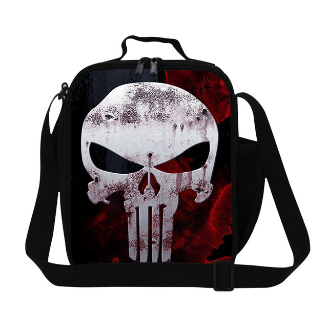 d5a525ec8206 Stylish skull printing lunch bag for adult work girls insulated lunch  cooler bags