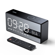 sardine sdy 019 portable wireless bluetooth speakers with alarm clock lcd time display big power 10w output hifi support Wireless Bluetooth Speaker Heavy Bass Speakers Music Player support LED Time Display Clock Alarm TF FM Radio Temperature Handfre