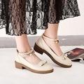 Nuevo dulce tacones correa de tobillo zapatos de vestir de tacón bajo las bombas de las mujeres Mary Jane zapatos de boda zapatos de las mujeres zapatos de tacón negro rosa verde 2017