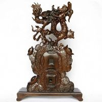 V Dragon Carving Wood Carving Decoration Crafts Mahogany Sheng Xiaolong Lucky Feng Shui Decoration Business Gifts