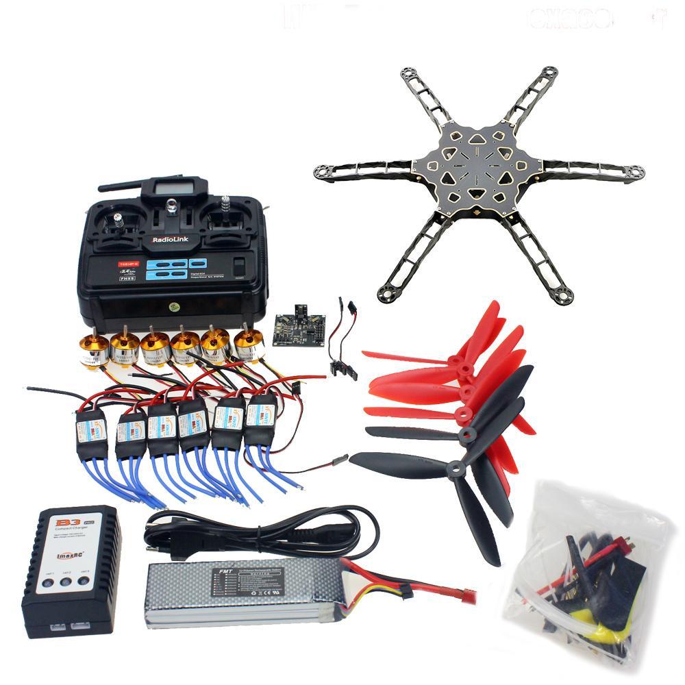 Full Set Totem Q450 Alien Across Carbon Fiber RC Helicopter DIY FPV Drone KK Multicopter V2