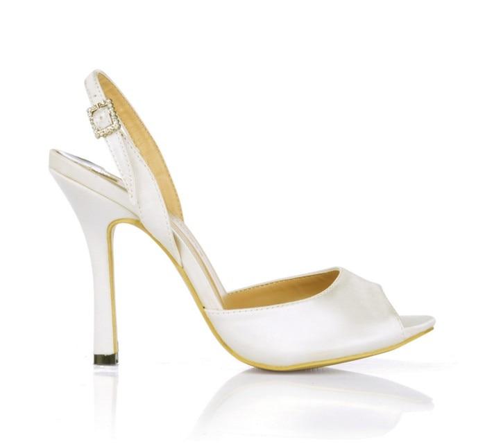 white Gold Moda Sandalias 10 Cm Peep Alto Zapatos Mujeres Hebilla De Vestir Sexy Punta Abierta Bombas Mujer Nueva Verano Tacón Satin Pu Satin Alta Toe Calidad black txt41nYq