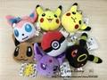 EMS Доставка 140 Шт./лот 8 см Pokemon Идти Пикачу Плюшевые Игрушки, Дети Pokenmon Брелок Рождественские Игрушки