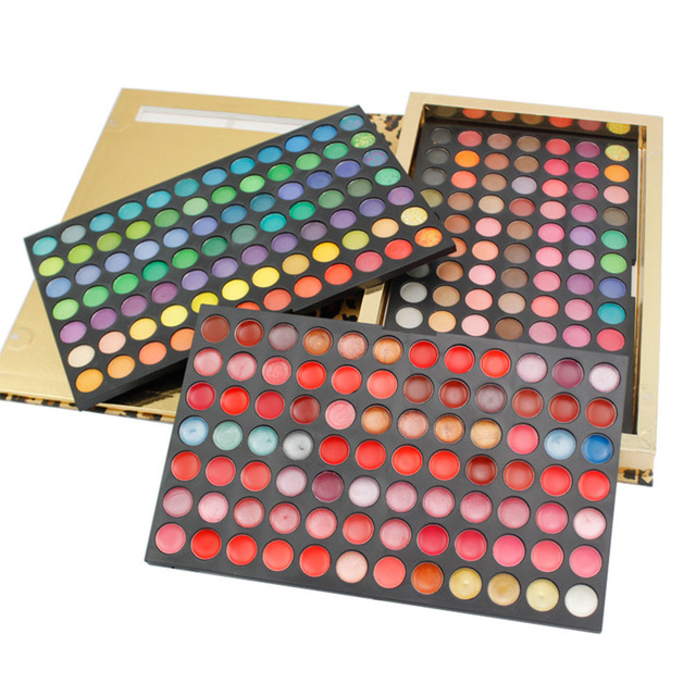 Pro 252 Full Color Makeup Eyeshadow Lip Gloss Palette Kit Leopard Packing Naked Smoky Eyeshadow Mineral Powder Cosmetic