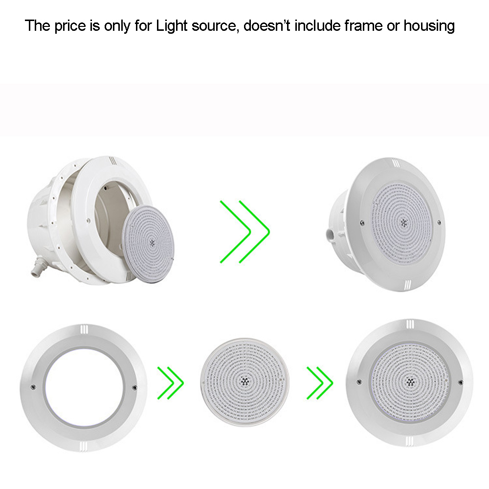 Image 4 - Resin Filled PAR56 Replacement 18W 12V Swimming Pool Light Piscinas 24W 30W 35W 42W RGB Synchrounous warm white free shipping-in LED Underwater Lights from Lights & Lighting