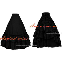 Medieval Gown Gothic Lolita Punk Cotton Skirt Cosplay Costume Custom made[G482]