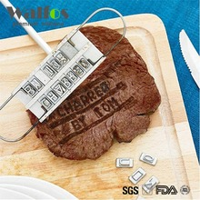 Personality Steak Meat Barbecue BBQ Meat Branding iron with changeable letters BBQ Tool Changeable 55 Letters
