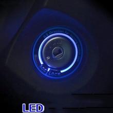 Автомобиль с подсветкой переключатель зажигания Крышка/Кольцо Key кольцо стикеры украшения для Ford Focus 2/Focus 3 4 MK3 MK4 2005-2016/Kuga/Mondeo