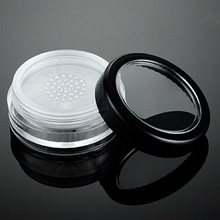 50pcs/lot 10g Clear Plastic Loose Powder Jar Cosmetic Packing Jar With Sifter Empty Makeup Jar Container Powdery Cake Box Empty