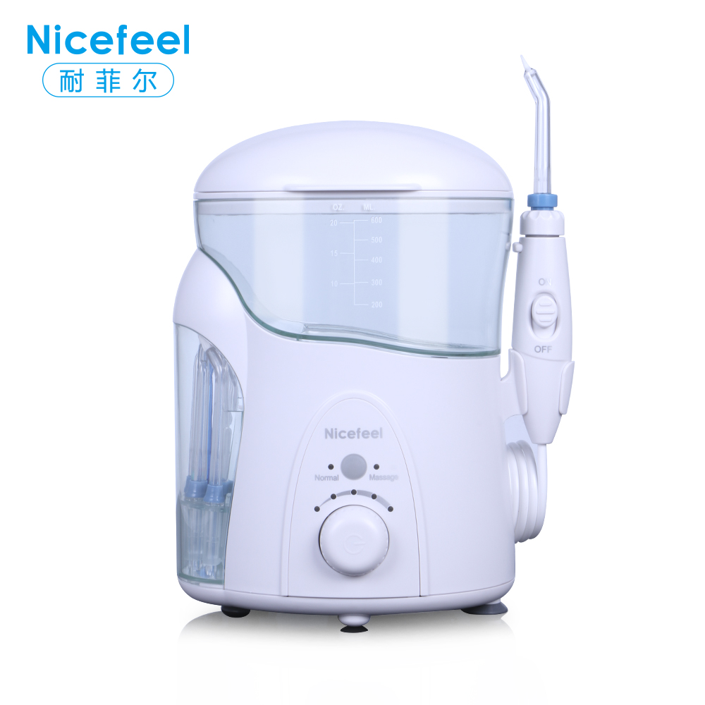 Nicefeel Dental Floss Oral Irrigator Jet Water Flosser Teeth Cleaner 600ML Care Oral Hygiene Irrigador Dental Oral Irrigation oral irrigator faucet water flosser power dental water jet oral care teeth cleaner spa dental irrigator irrigation with 6 tips