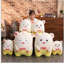 WYZHY New Year gift mascot down cotton soft pig doll plush toy to send friends children birthday 75CM